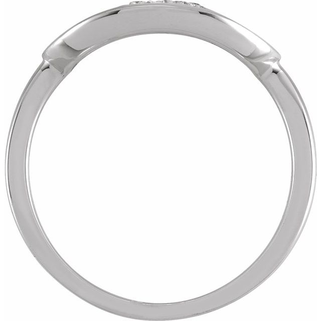 14K White Initial K 1/10 CTW Diamond Ring