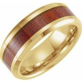 Beveled Edge Band with Walnut Wood Inlay
