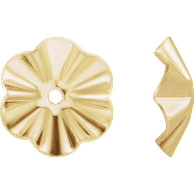 14K Yellow 6.8 mm OD Buttercup Earring Jackets