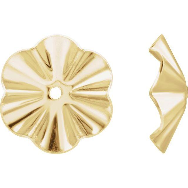 14K Yellow 7.8 mm OD Buttercup Earring Jackets