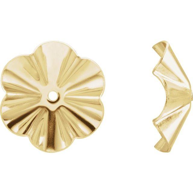14K Yellow 9 mm OD Buttercup Earring Jackets