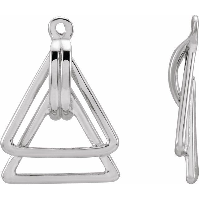 Sterling Silver Geometric Earring Jackets