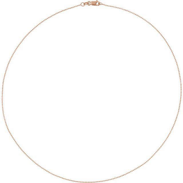 14K Rose 1mm Diamond-Cut Bead 20