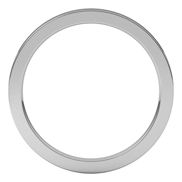 14K White 1.5 mm Flat Comfort Fit Band Size 6