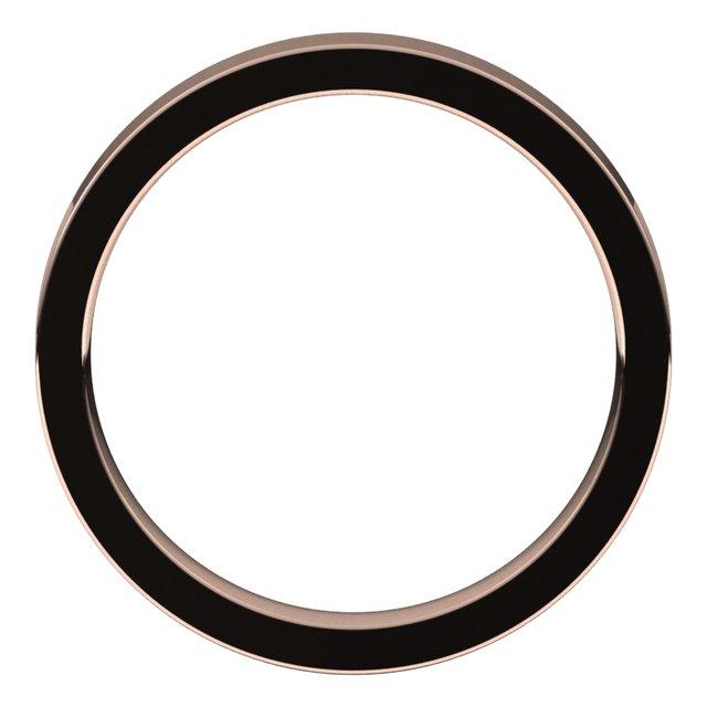 14K Rose 3 mm Flat Comfort Fit Band Size 8