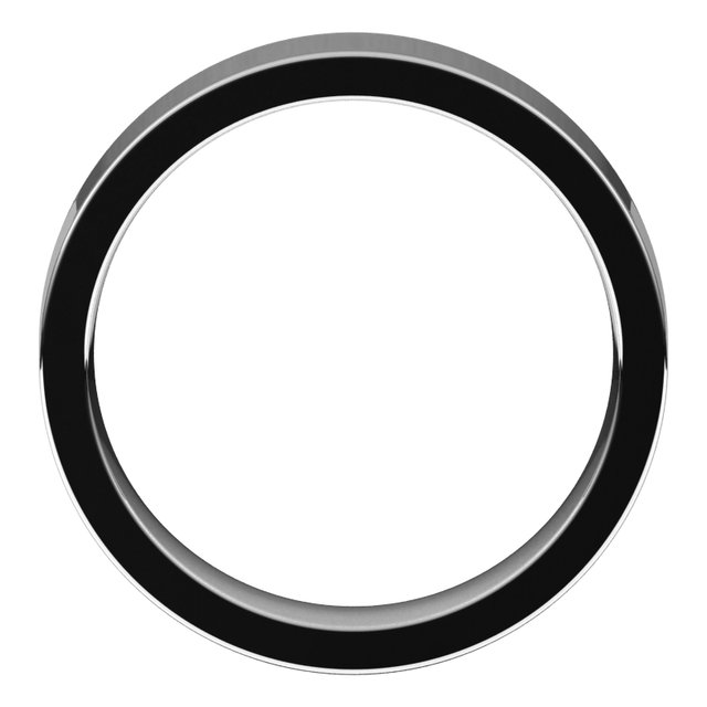 14K White 5 mm Flat Comfort Fit Band Size 9