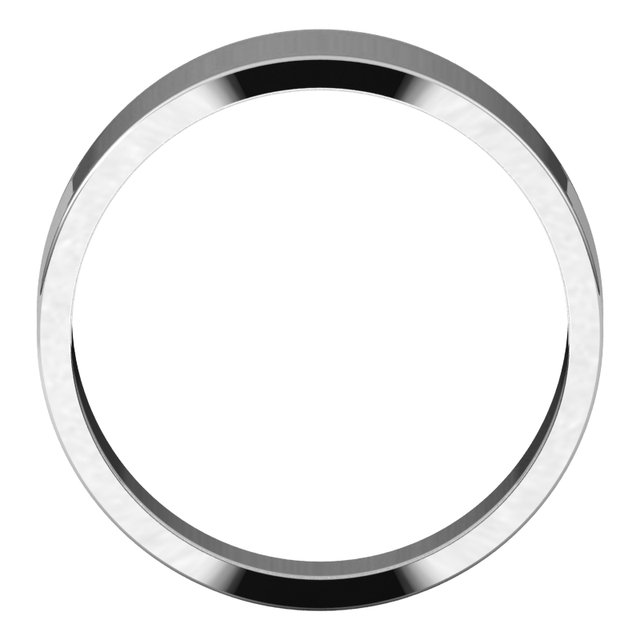 Sterling Silver 7 mm Flat Tapered Band Size 7