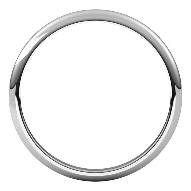 Sterling Silver 2 mm Half Round Band Size 3