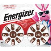 Energizer #312 Pack Of 16 Hearing Aid Batteries