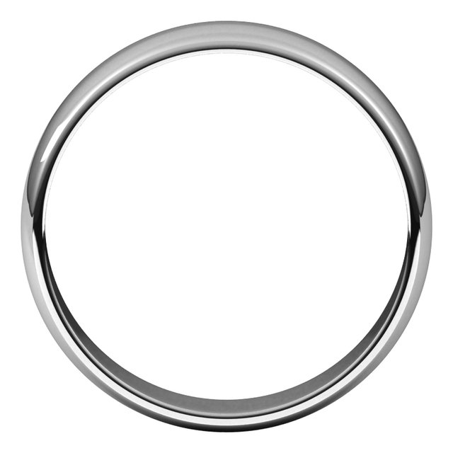 Sterling Silver 5 mm Half Round Light Band Size 7.5