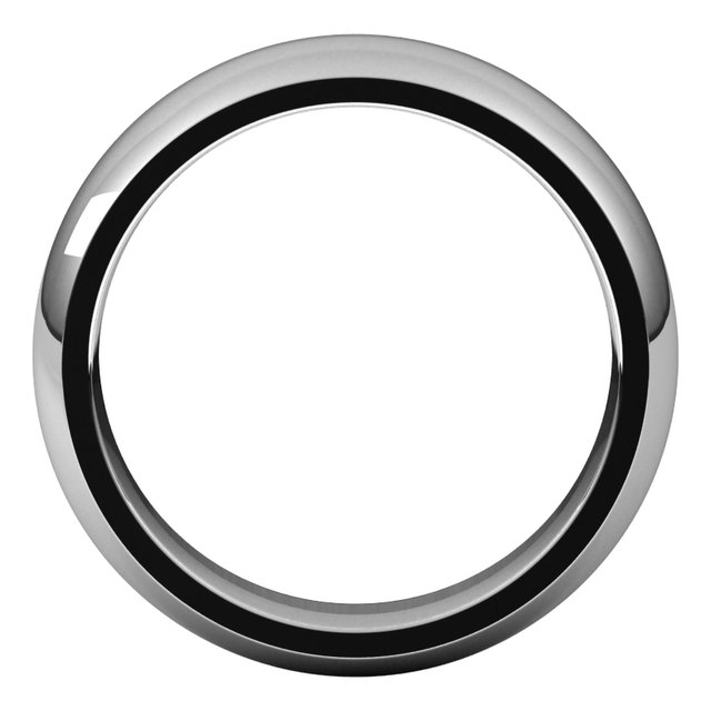 14K White 6 mm Half Round Comfort Fit Band Size 14.5