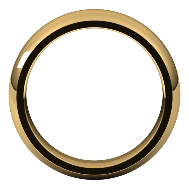 18K Yellow 6 mm Half Round Comfort Fit Band Size 9