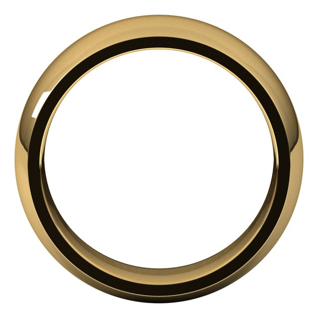 14K Yellow 8 mm Half Round Comfort Fit Band Size 7.5