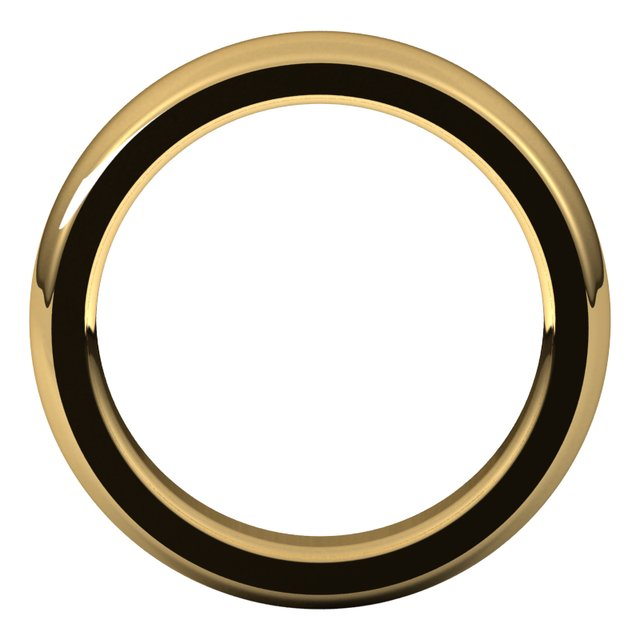 14K Yellow 5 mm Half Round Comfort Fit Heavy Band Size 10