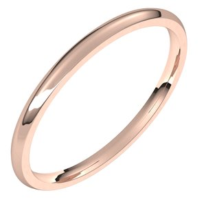 14K Rose 1.5 mm Half Round Comfort Fit Light Band Size 9
