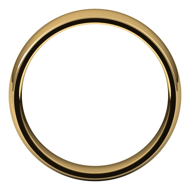 14K Yellow 5.5 mm Half Round Comfort Fit Light Band Size 10
