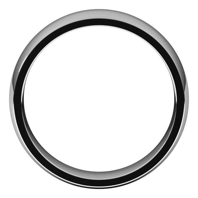 10K White 6 mm Half Round Comfort Fit Light Band Size 10.5
