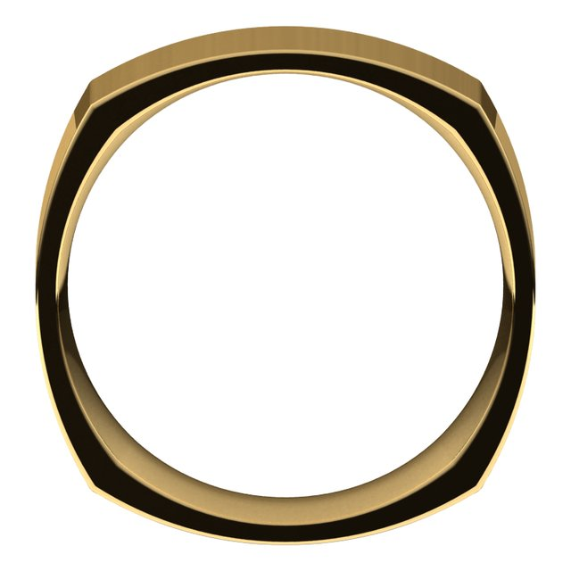 14K Yellow 7 mm Square Comfort Fit Band Size 10