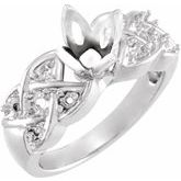 Woven Tulipset® Engagement Ring or Band