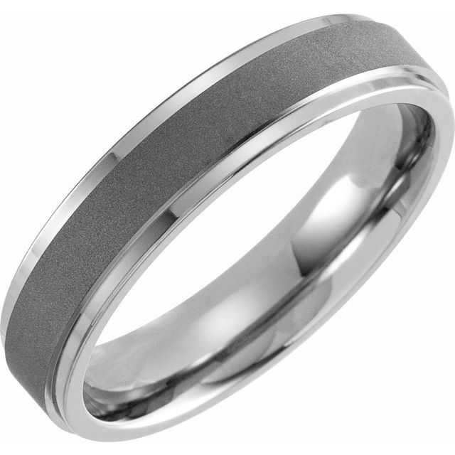 Titanium 5 mm Oxidized Flat Band Size 6