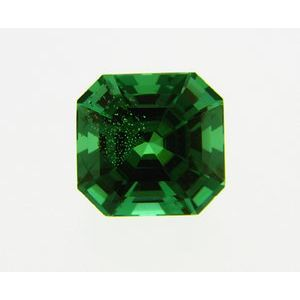 Garnet Asscher 0.36 carat Green Photo