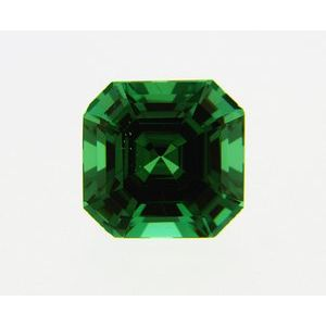 Garnet Asscher 0.33 carat Green Photo