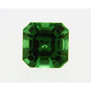 Garnet Asscher 0.68 carat Green Photo