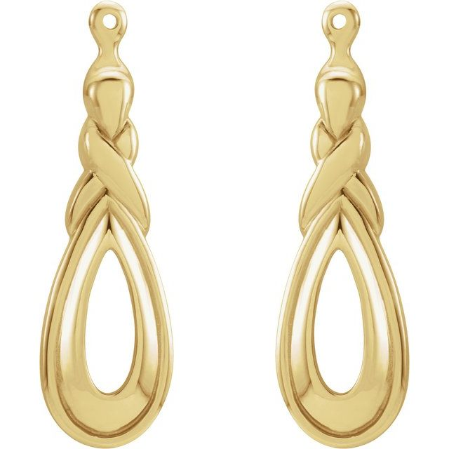 14K Yellow Freeform Earring Jackets