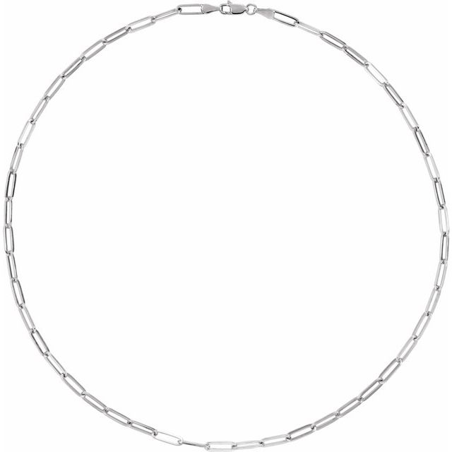 Sterling Silver 3.85 mm Elongated Flat Link 16