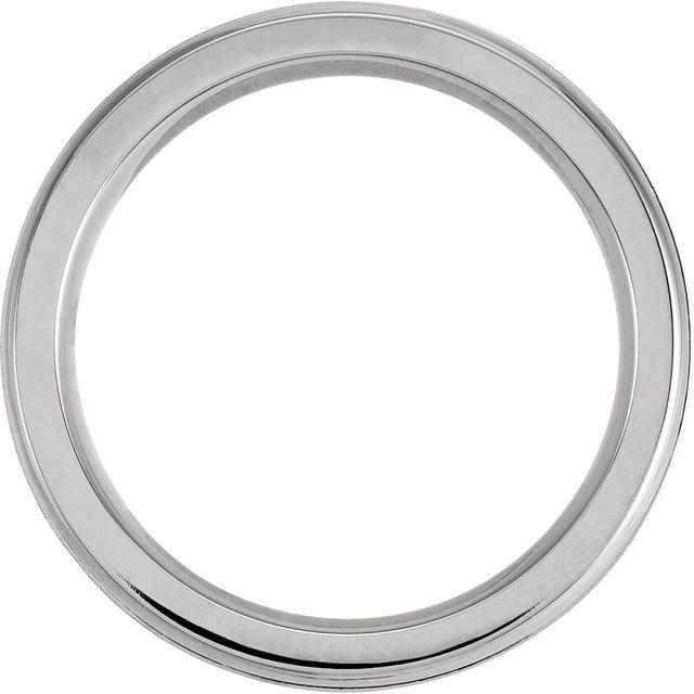 Cobalt 8 mm Coin Edge Band Size 12.5