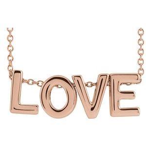 """14K Rose Love 16-18"""" Necklace"""