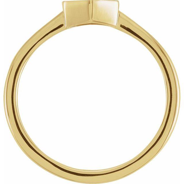 14K Yellow  9.5x8 mm Geometric Signet Ring