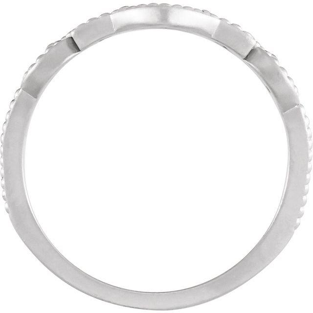 14K White Granulated Ring