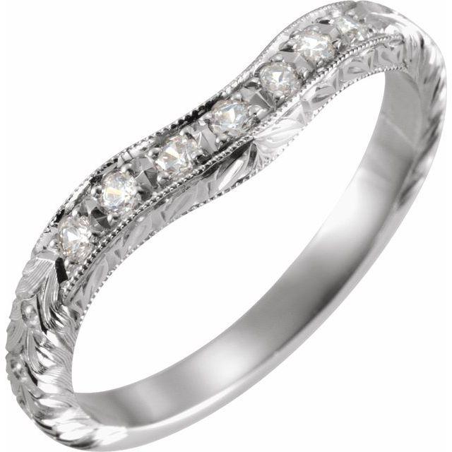 14K White 1/8 CTW Matching Diamond Band