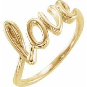 14K Yellow Love Ring
