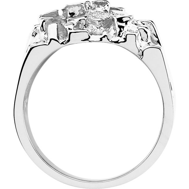 Sterling Silver Men-s Nugget Ring