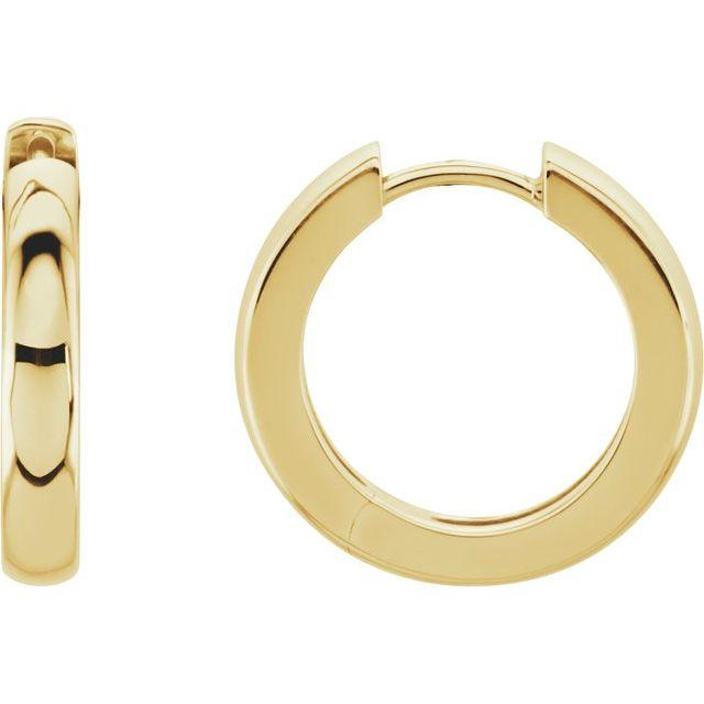 14K Yellow 17.5 mm Hinged Hoop Earrings