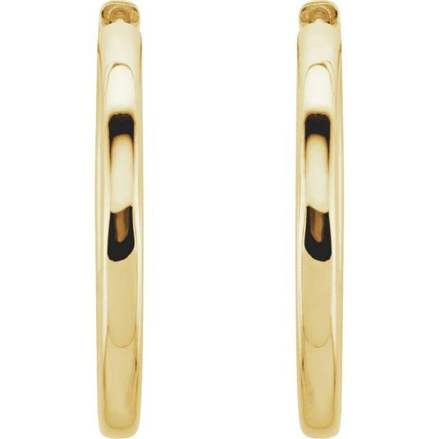 14K Yellow 29 mm Hinged Hoop Earrings