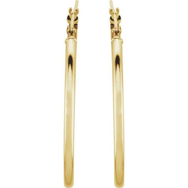 14K Yellow 34 mm Hoop Earrings