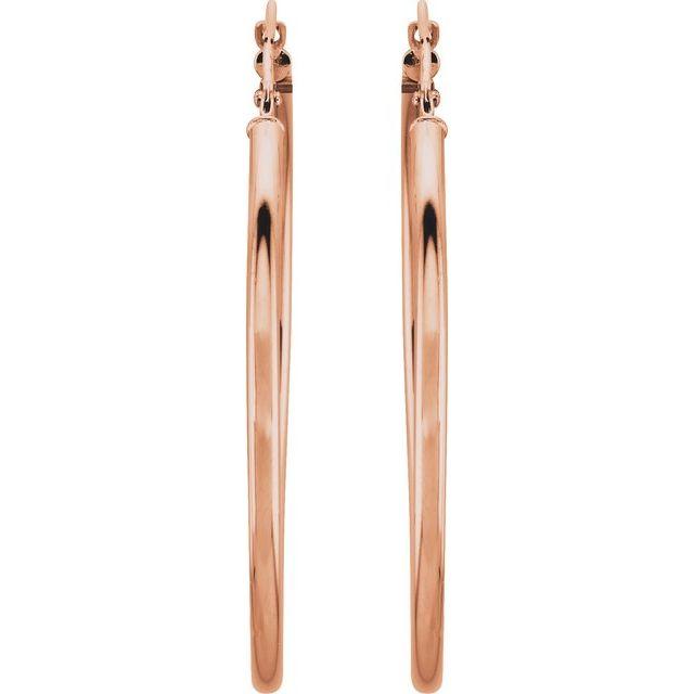 14K Rose 40 mm Hoop Earrings
