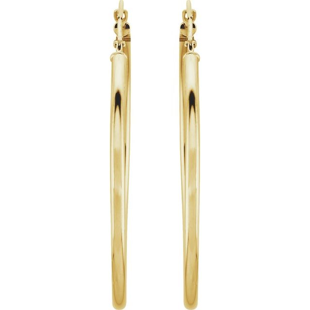 14K Yellow 40 mm Hoop Earrings
