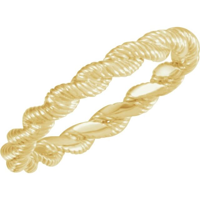 14K Yellow Twisted Rope Band Size 8