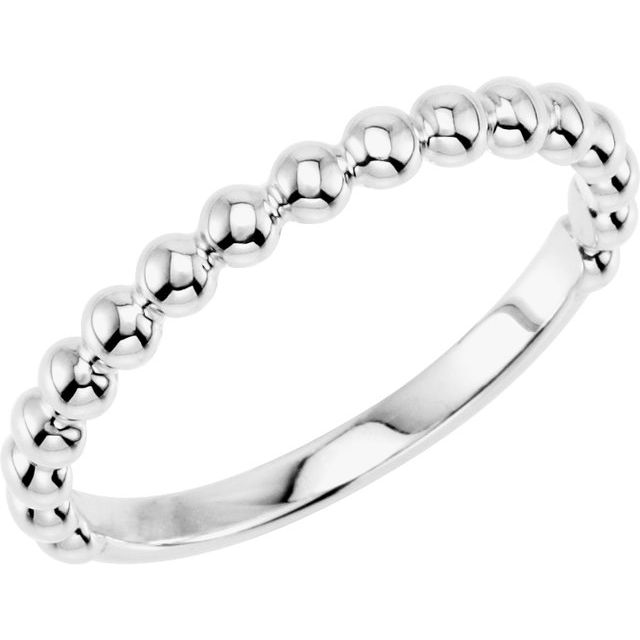 Sterling Silver Stackable Beaded Ring