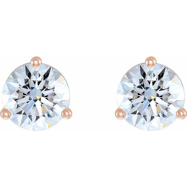 14K Rose 1/2 CTW Lab-Grown Diamond Stud Earrings