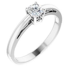 Round Gemstone Scroll Setting® Ring alebo neosadený
