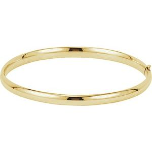 14K Yellow 4.75 mm Hinged Bangle Bracelet