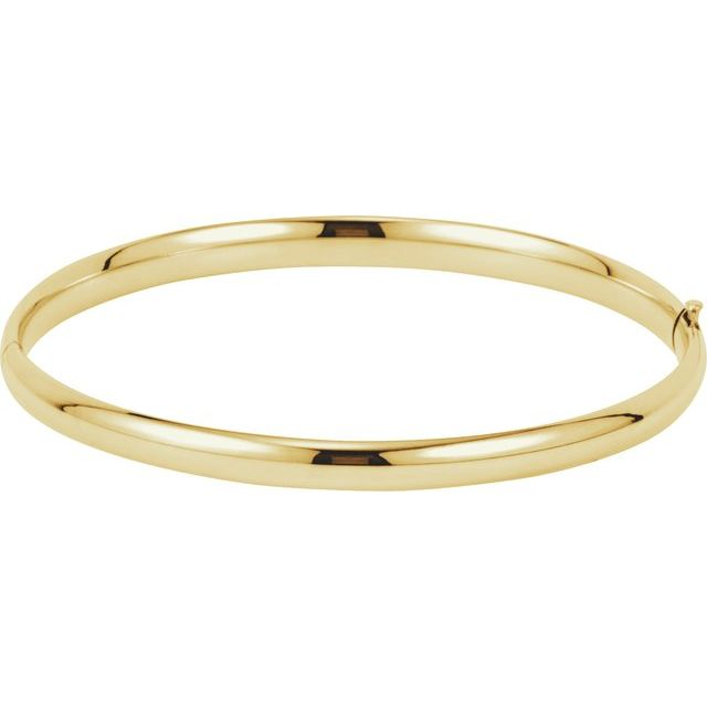 14K Yellow 4.75 mm Hinged Bangle Bracelet