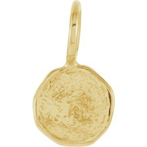 14K Yellow Disc Pendant