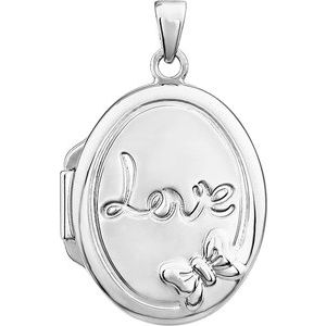 Sterling Silver Oval Love Locket