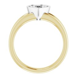 Bezel-Set Solitaire Engagement Ring